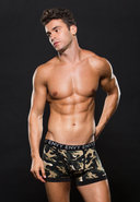 Logo Elastic Boxer Brief M/l Green Camo