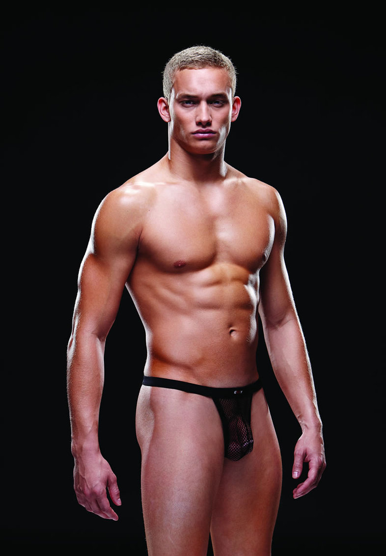Fishnet Sport Thong L/xl Black