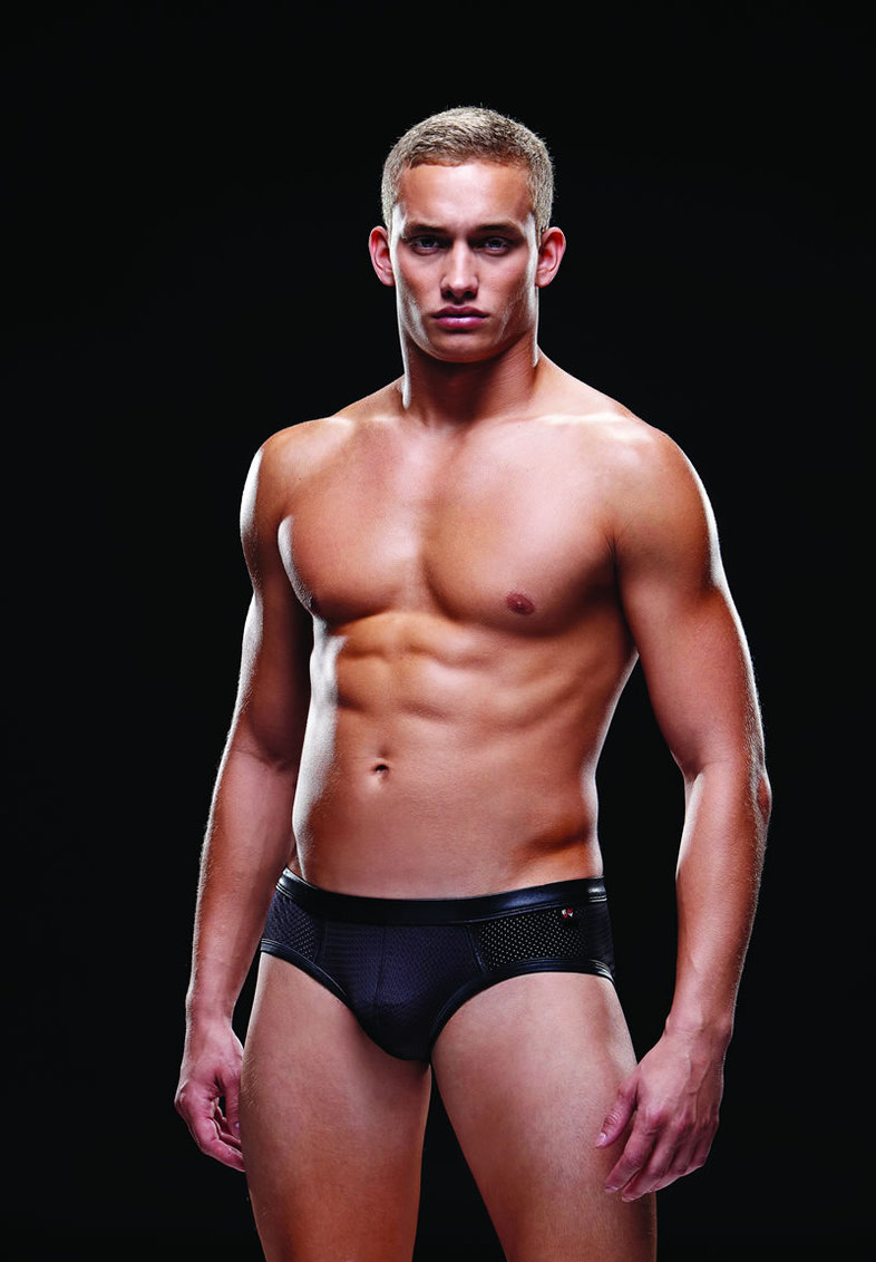 Wetlook Athletic Brief S/m Black (disc)
