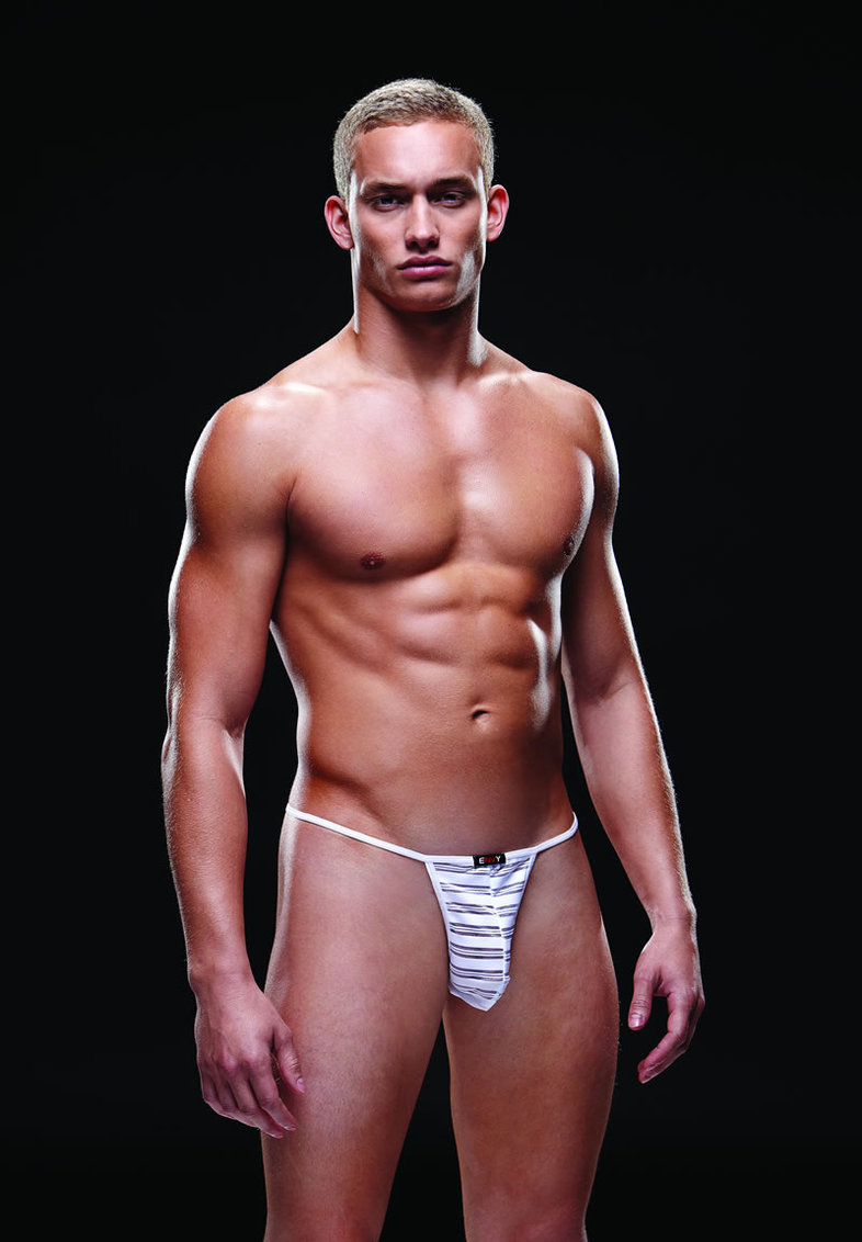 Microfiber G String L/xl White (disc)