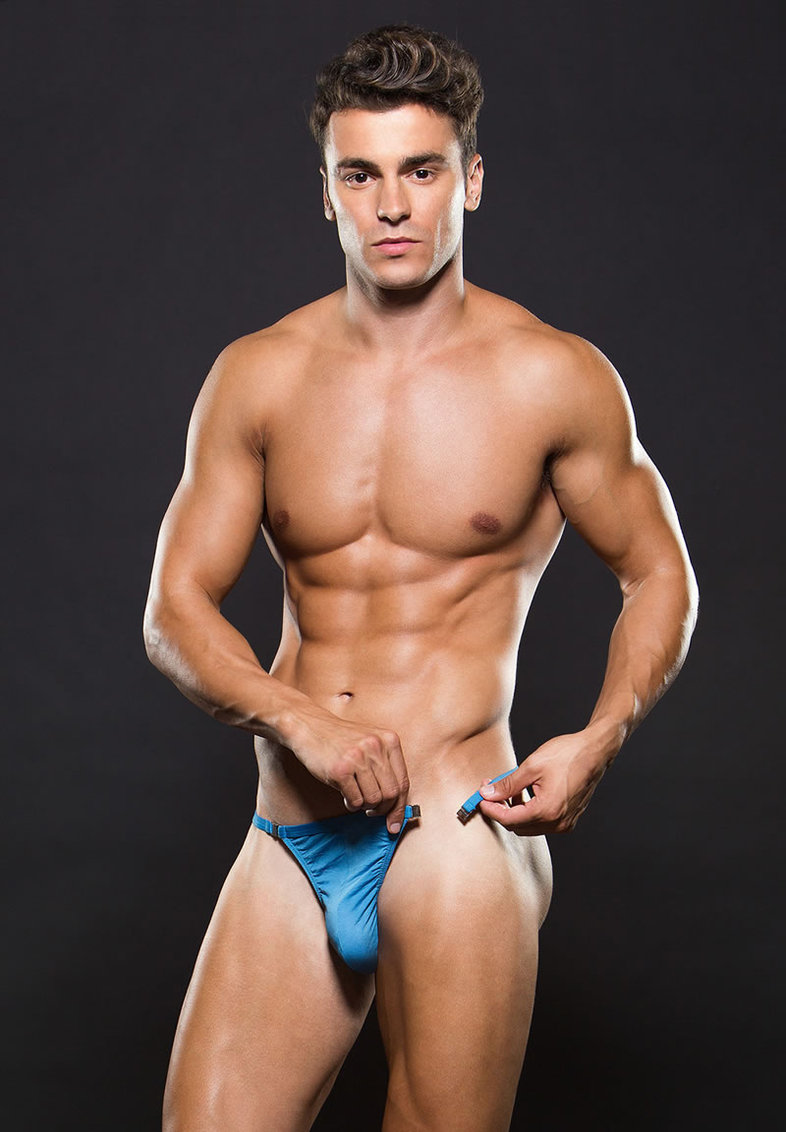 Microfiber Magnetic Gstring L/xl Blue