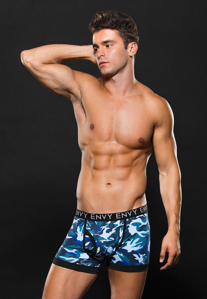 Logo Elastic Boxer Brief S/m Blue Camo